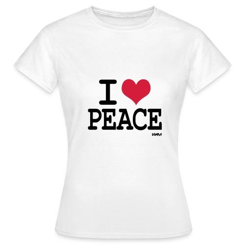 I Love Peace - T-shirt dam