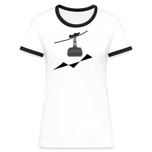 Seilbahn -4- - Frauen Kontrast-T-Shirt