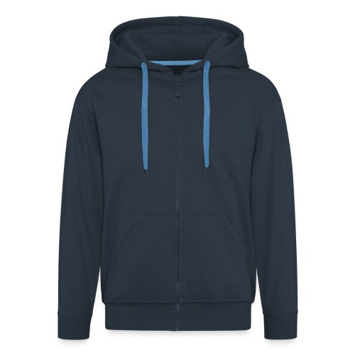 felpa uomo zip navy - Felpa con zip Premium da uomo