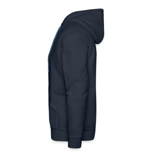 Felpa uomo no zip navy - Felpa con cappuccio premium da uomo
