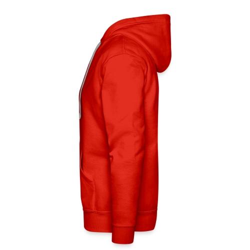 Felpa uomo no zip rossa - Felpa con cappuccio premium da uomo