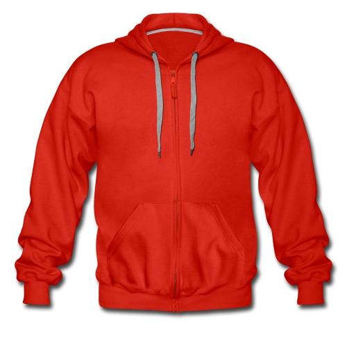 felpa uomo zip rossa - Felpa con zip Premium da uomo