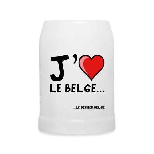 Chope j'aime le belge - Chope en céramique