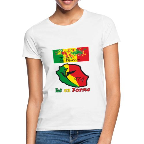 Tee shirt classique Femme lé en forme rasta - T-shirt Femme