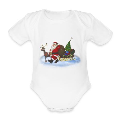 Santa is coming - Baby Bio-Kurzarm-Body