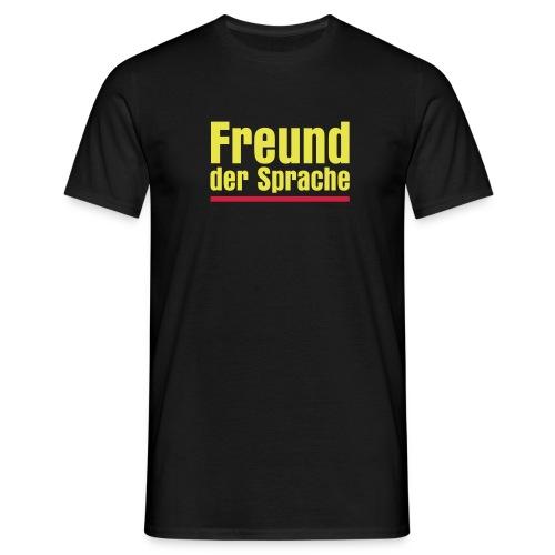 Männershirt - Freund der Sprache - Männer T-Shirt