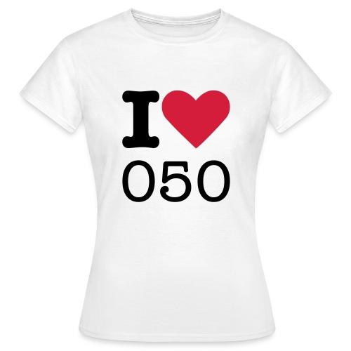 I ♥  050 (DAMES) - Vrouwen T-shirt