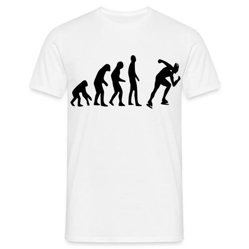 Evolutie van de Schaatser (HEREN) - Mannen T-shirt