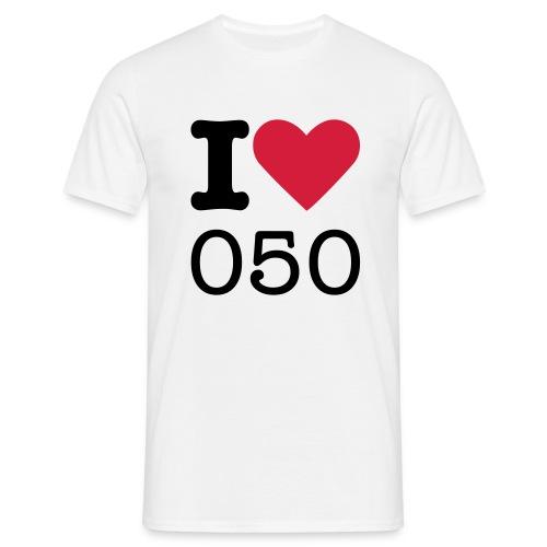 I ♥ 050 (HEREN) - Mannen T-shirt