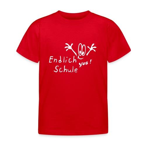 Kindershirt Endlich Schule - Kinder T-Shirt
