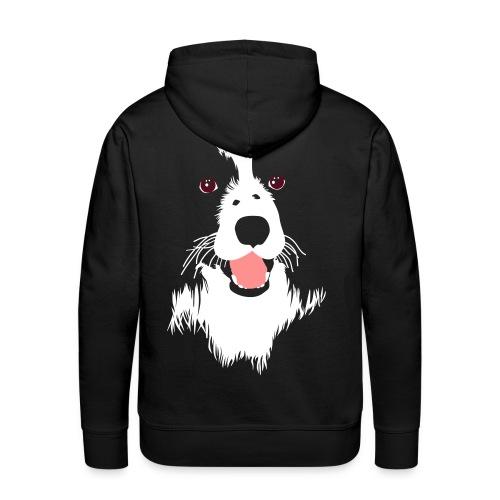 Face de chien - Sweat-shirt à capuche Premium pour hommes