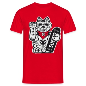 [Maneki Locco] rouge - Men's T-Shirt