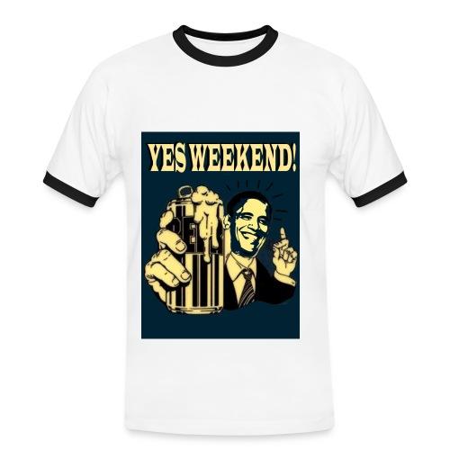 Obama's weekend beer can - Men's Ringer Shirt