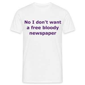 Free newspaper white (mens) - Men's T-Shirt