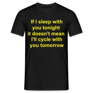 Sleepcycle black (mens) - Men's T-Shirt