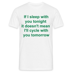Sleepcycle white (mens) - Men's T-Shirt