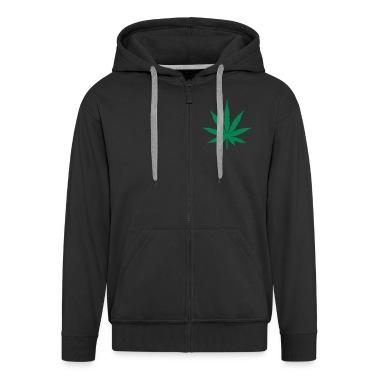 Black Marijuana Leaf Coats & Jackets
