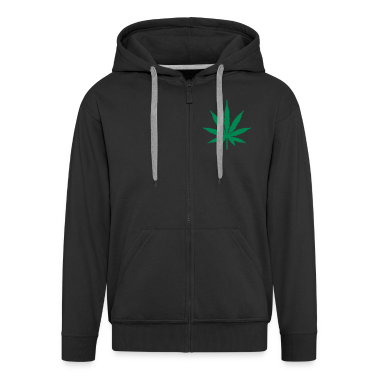 Black Marijuana Leaf Coats & Jackets