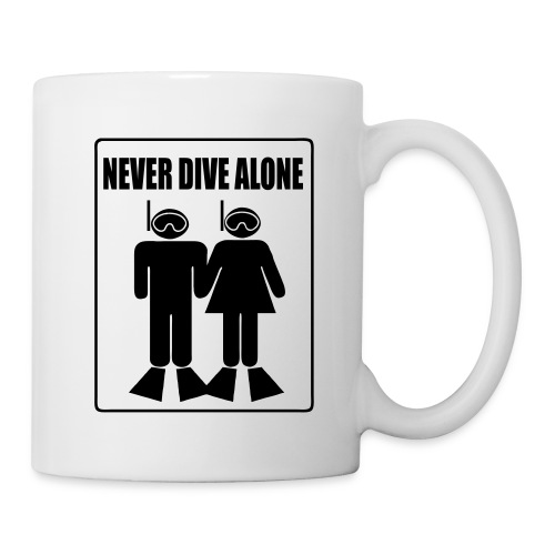 Mug Never Dive Alone  - Mug blanc