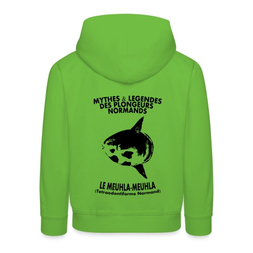 Meuhla-Meuhla-Enf-Imp Digit+logo poche - Pull à capuche Premium Enfant
