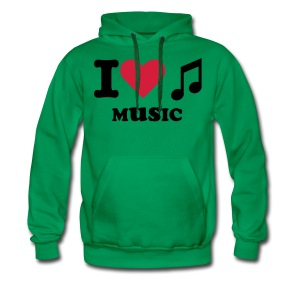 I Love Music Sweater ( Man ) - Men's Premium Hoodie