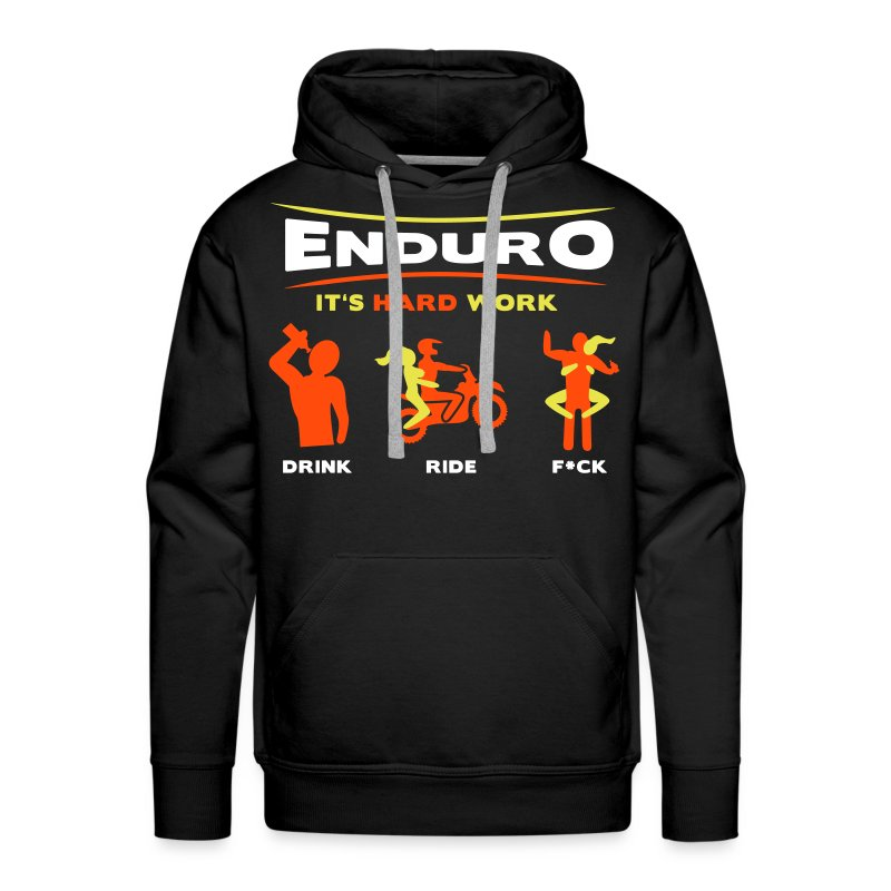 Enduro - It's hard work BlackHoodie - Männer Premium Hoodie