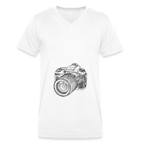 Camera Shirt - Männer Bio-T-Shirt mit V-Ausschnitt von Stanley & Stella