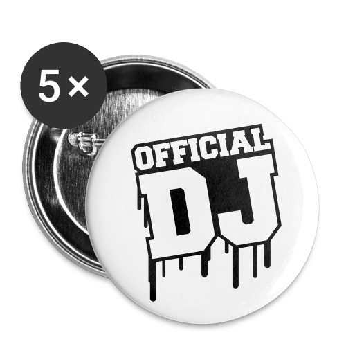 Official DJ Buttons - Buttons small 1''/25 mm (5-pack)