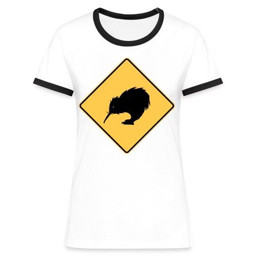 Kiwi en danger ! - T-shirt contrasté Femme