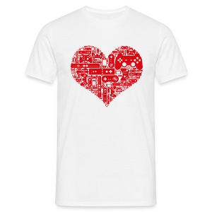 Geek love - Gamer heart - T-shirt Homme