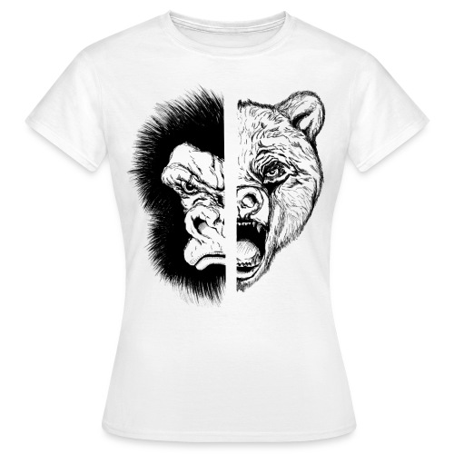 Gorilla Vs. Bear - Women's T-Shirt