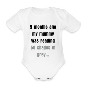 50 shades baby - Organic Short-sleeved Baby Bodysuit
