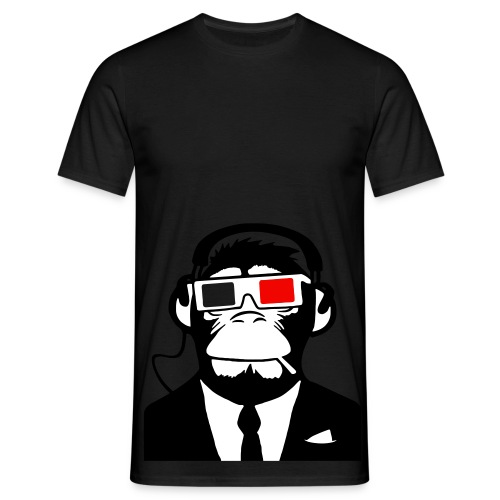 3D Ape Dj ( Red ) - T-shirt herr