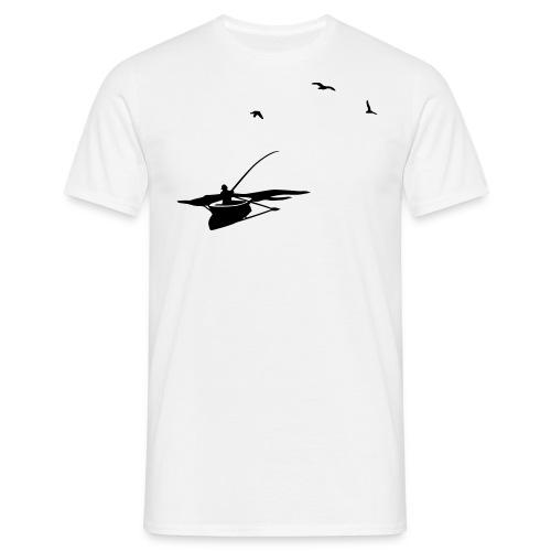 gone fishing basic b&w *mn - Männer T-Shirt