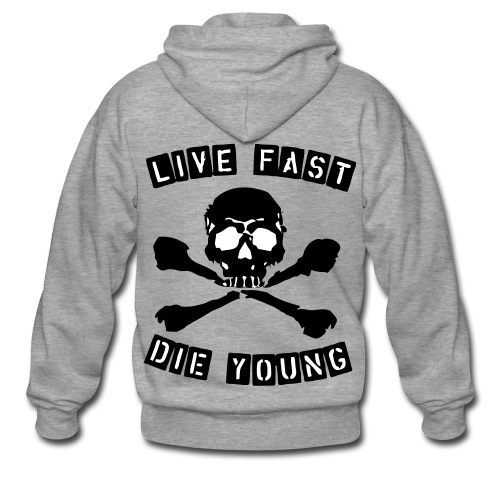 Live fast die young Kapuzo - Männer Premium Kapuzenjacke