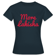 T-Shirts ~ Women's T-Shirt ~ More Lakisha t-shirt red/navy