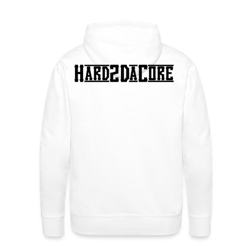 Hard2DaCore Hoodie -white- man - Männer Premium Hoodie