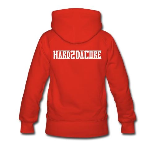 Hard2DaCore Hoodie -red- woman - Frauen Premium Hoodie