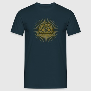 All seeing Eye, Pyramid, Horus, Triangle, Symbols, T-shirts & Hoodies - Men's T-Shirt