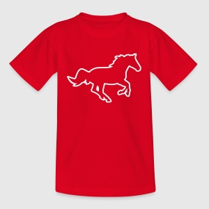 horse_1clr_kant Barn-T-shirts - Teenager T-shirt