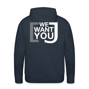 We want you - Männer Premium Kapuzenpullover