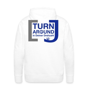 Turn around - Männer Premium Kapuzenpullover