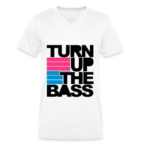 Turn up the Bass - weiß - Männer Bio-T-Shirt mit V-Ausschnitt von Stanley & Stella