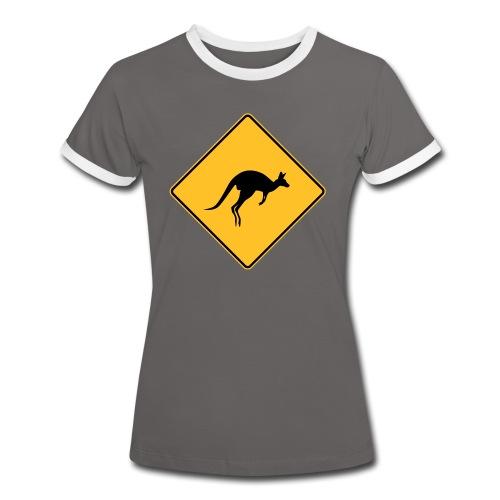 Panneau Kangourou - T-shirt contrasté Femme