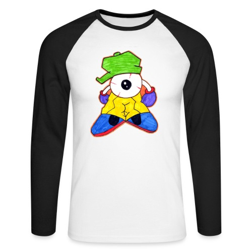 Graffiti Eye - Männer Baseballshirt langarm