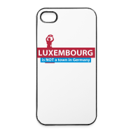 Phone & Tablet Cases ~ iPhone 4/4s Hard Case ~ Luxembourg is NOT a town in Germany - iPhone 4/4S cover