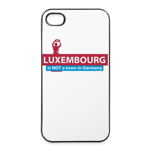 Luxembourg is NOT a town in Germany - iPhone 4/4S cover - iPhone 4/4s Hard Case