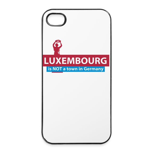 Luxembourg is NOT a town in Germany - iPhone 4/4S cover
