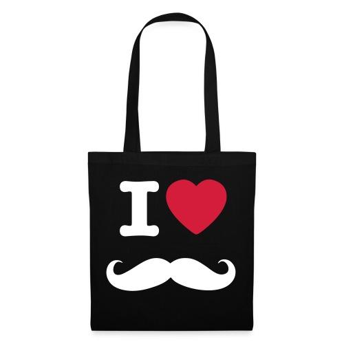 Shoppingbag 'i love snor' - Tas van stof
