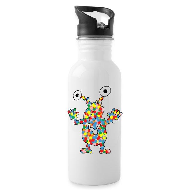 Trinkflasche mit buntem Monster